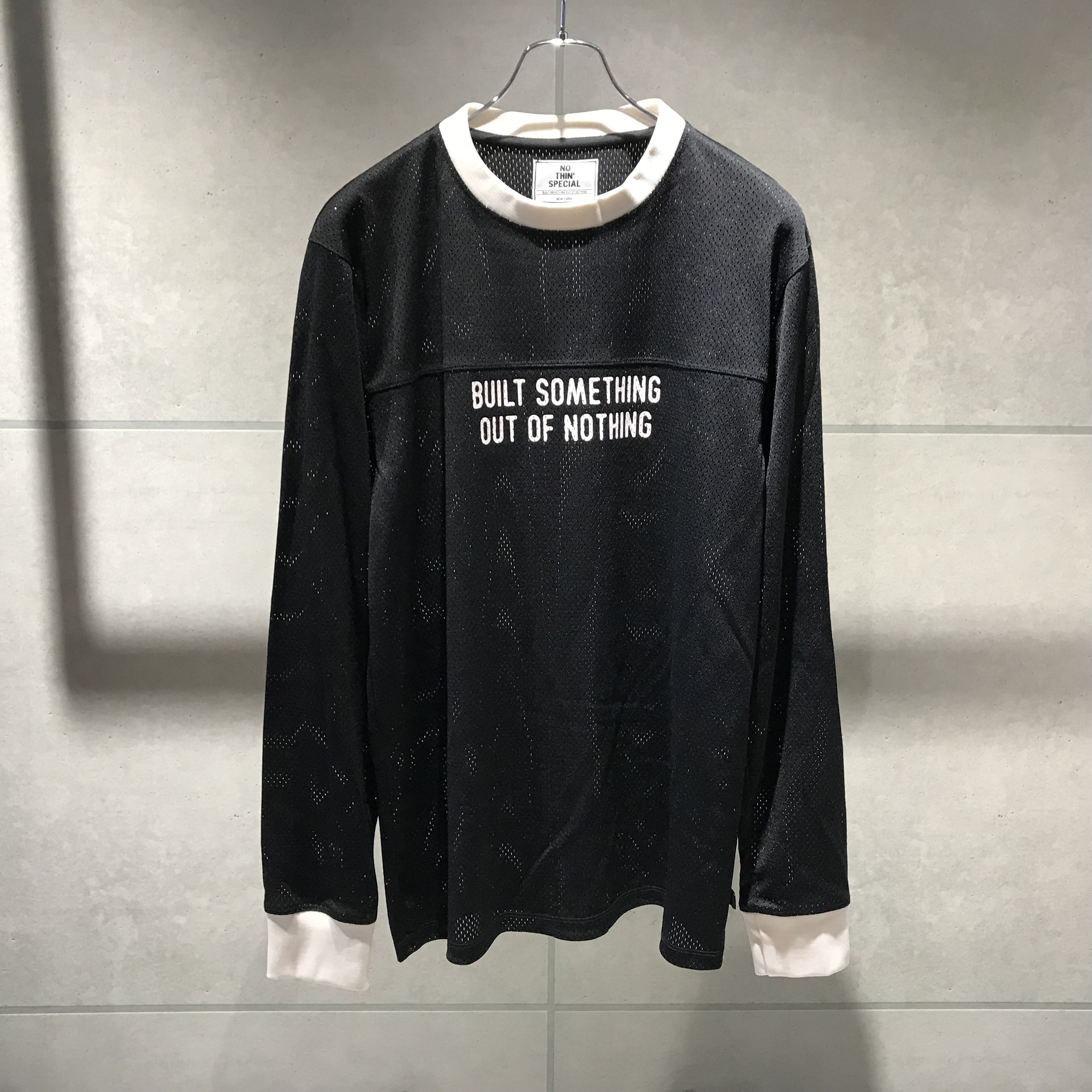 NOTHIN'SPECIAL OUT OF NOTHING MOTO JERSEY / BLACK x WHITE