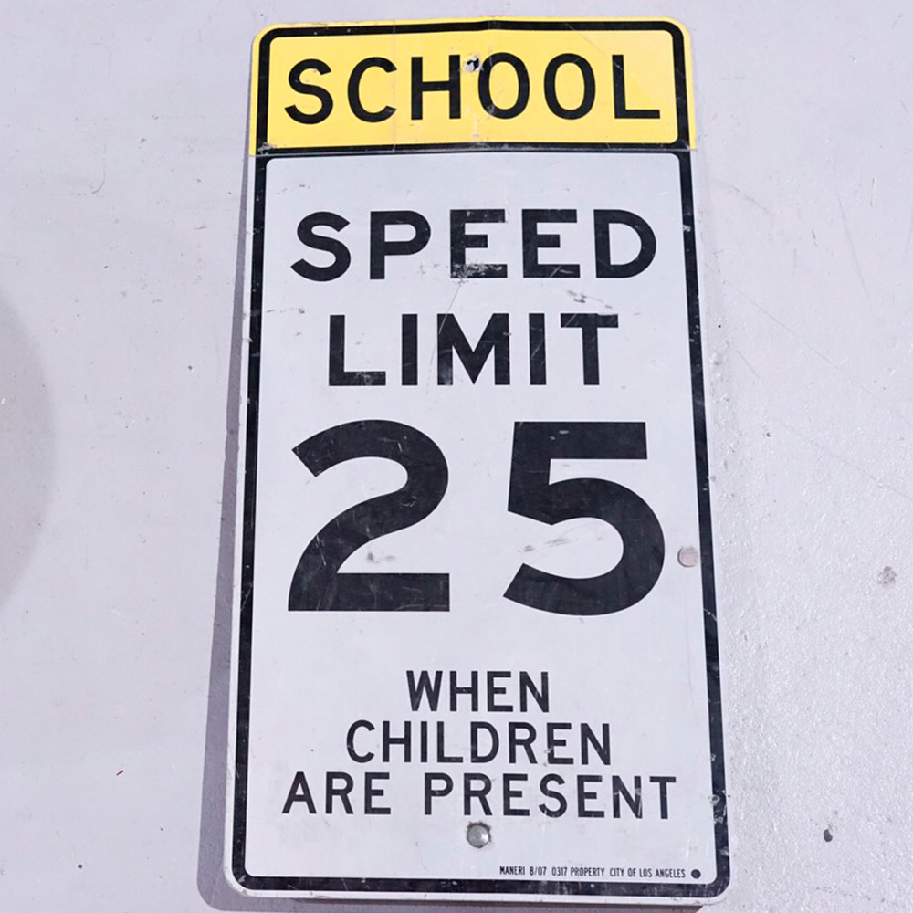 SPEED LIMIT25 アメリカンロードサイン 道路標識