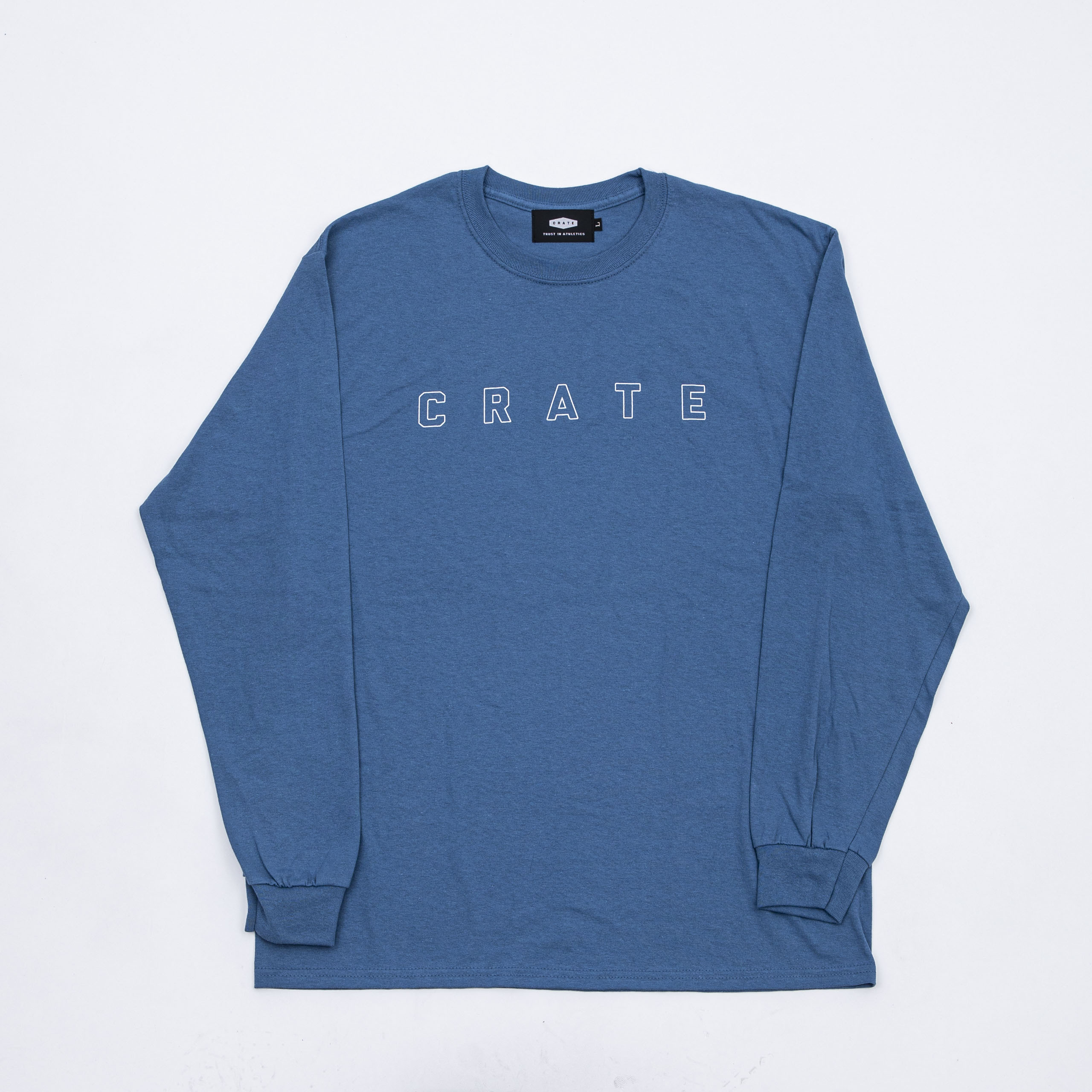 SIMPLE LOGO HOLLOW L/S Tee BLUE