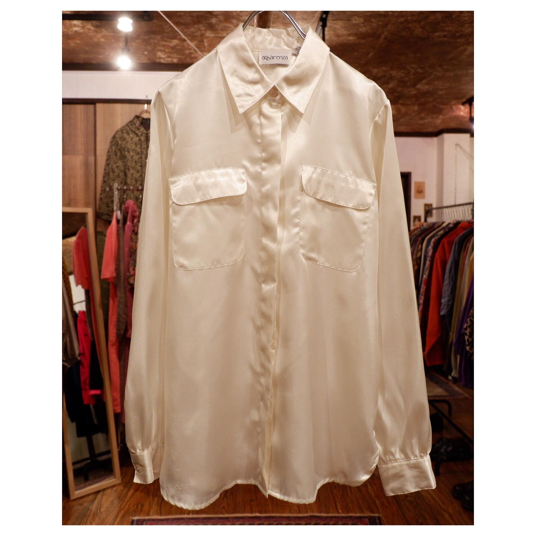 アメリカ古着 ホワイト 比翼デザイン シャツ