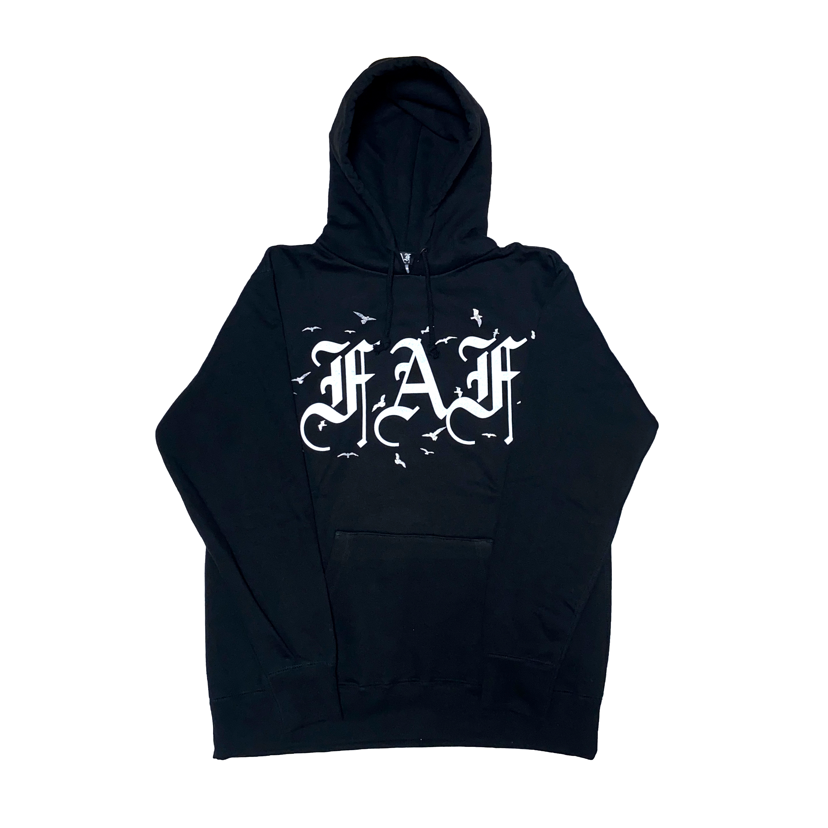 FAF OE Logo Hoodie (Birds) / Black - 画像1