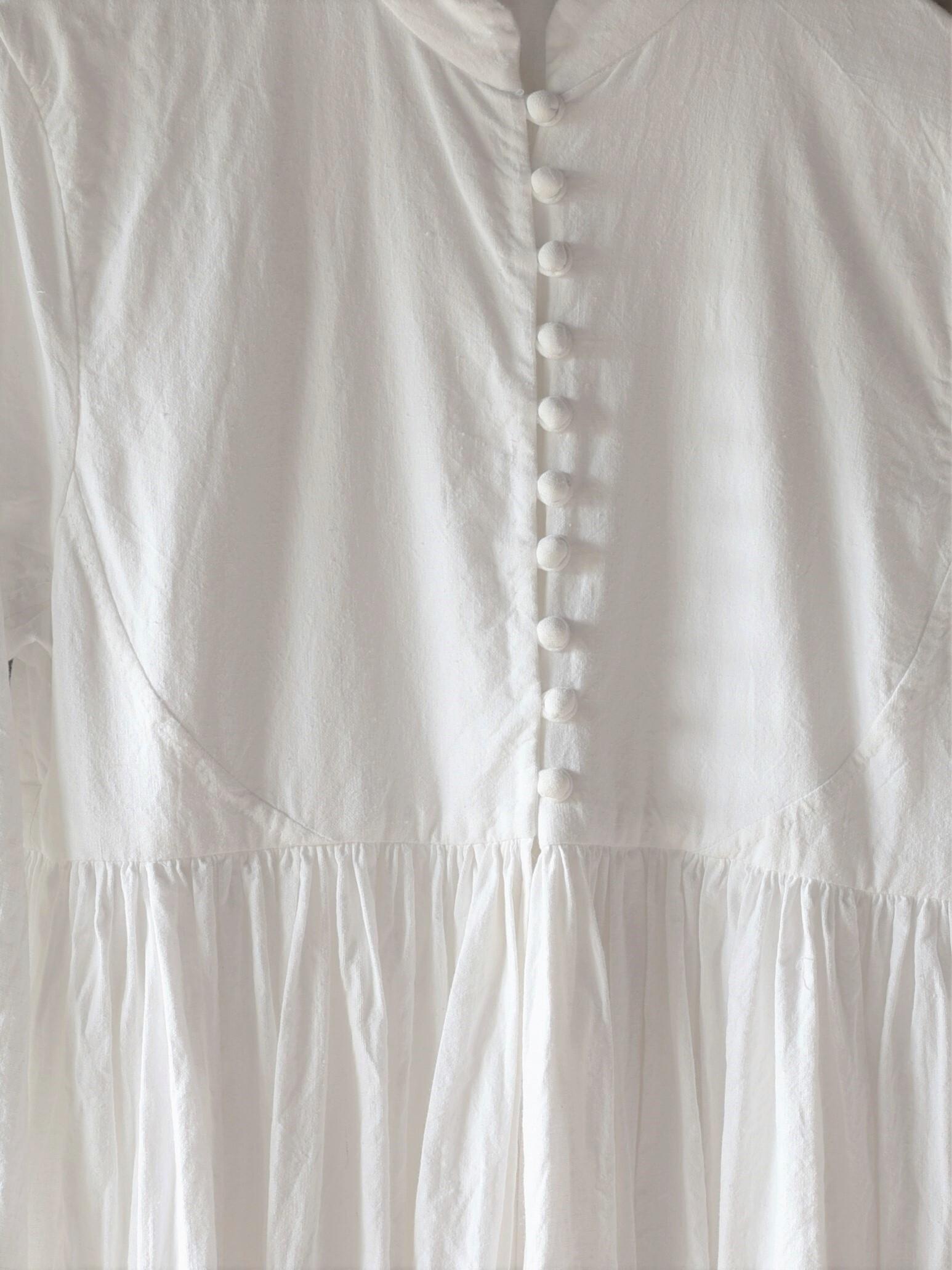 YAECA khadi |ボタンギャザードレス