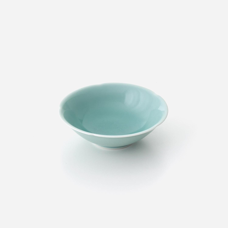 青磁花型 小鉢