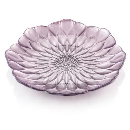 IVV pearllilac 22㎝ lorus plate【イタリア製ガラス食器】