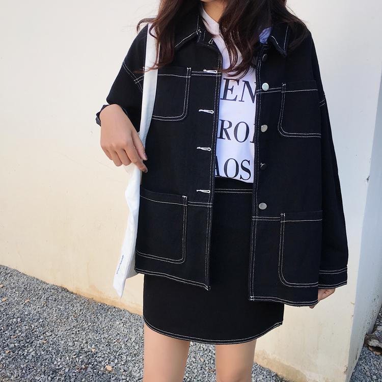 【送料無料】 今っぽデニムコーデ♡ ジャケット × ミニスカート カラー デニム カジュアル セットアップ