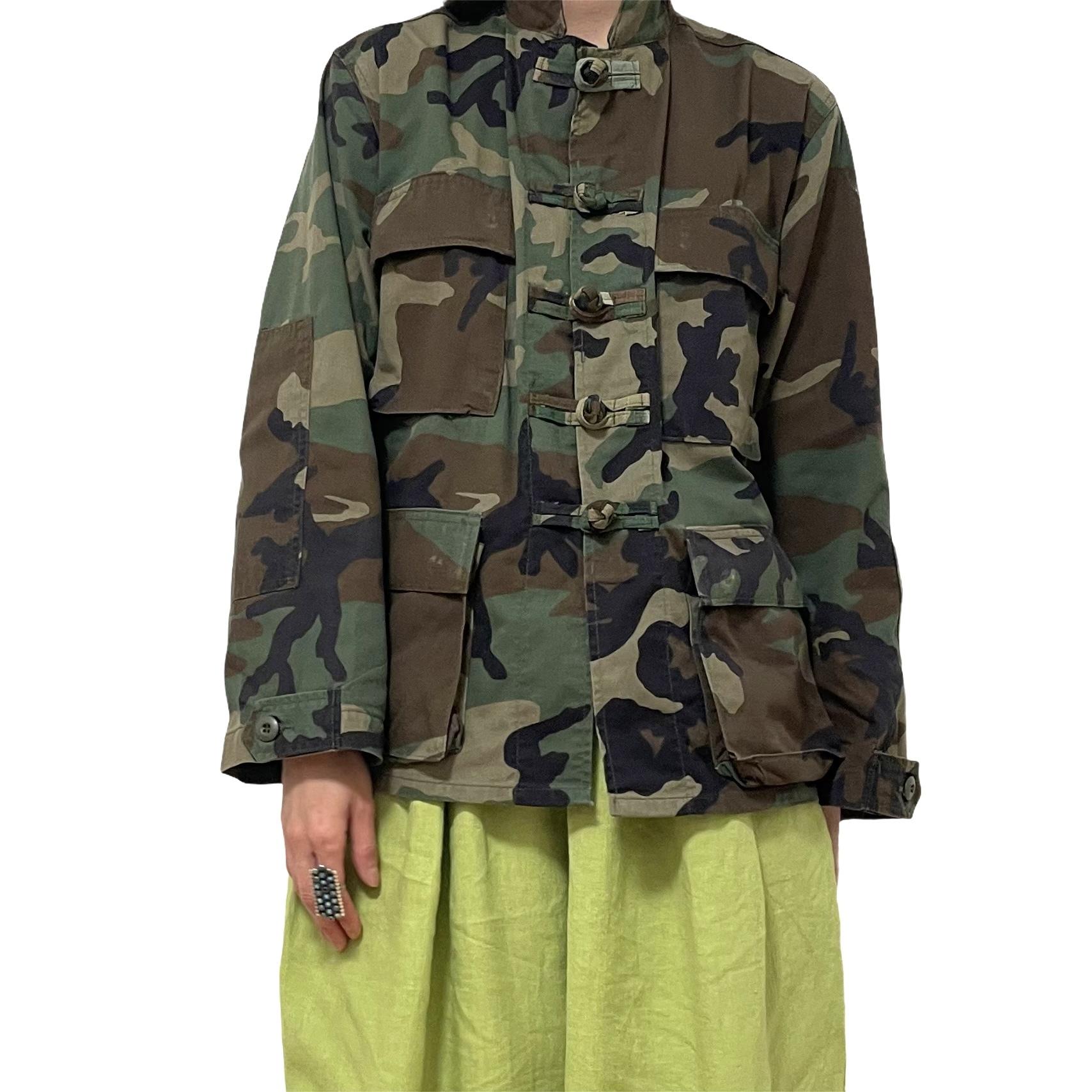 90's U.S. ARMY BDU JACKET Woodland Camo Remake China Jacket XS-XS