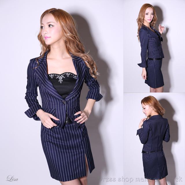 SALE(S,M,Lサイズ) ジャケット&スカートスーツ ¥10,800- (税込) キャバドレス ドレス パーティー 116009