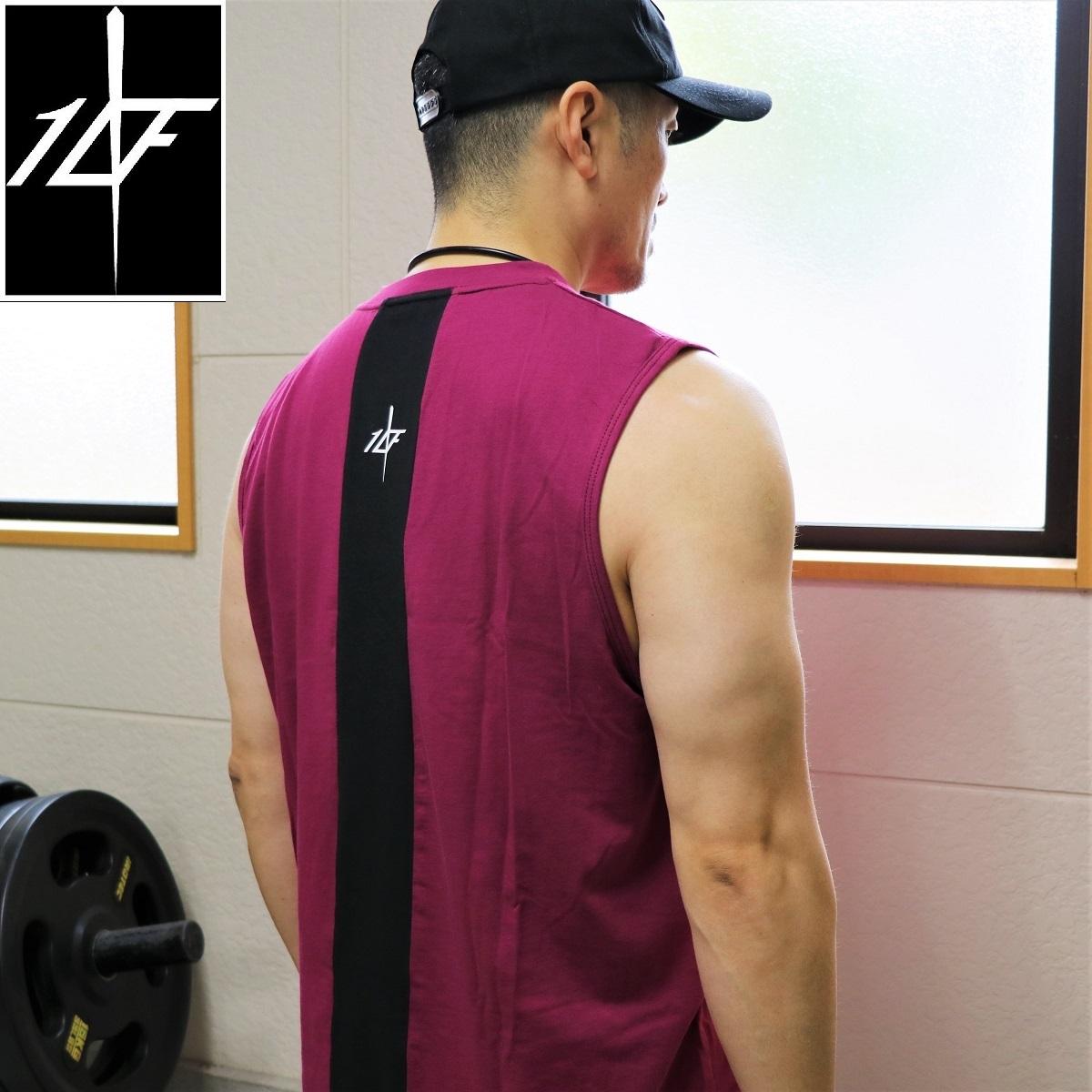 10FIT タンクトップ トレーニング 筋トレ ボディビル メンズ TT-22 ワイン黒