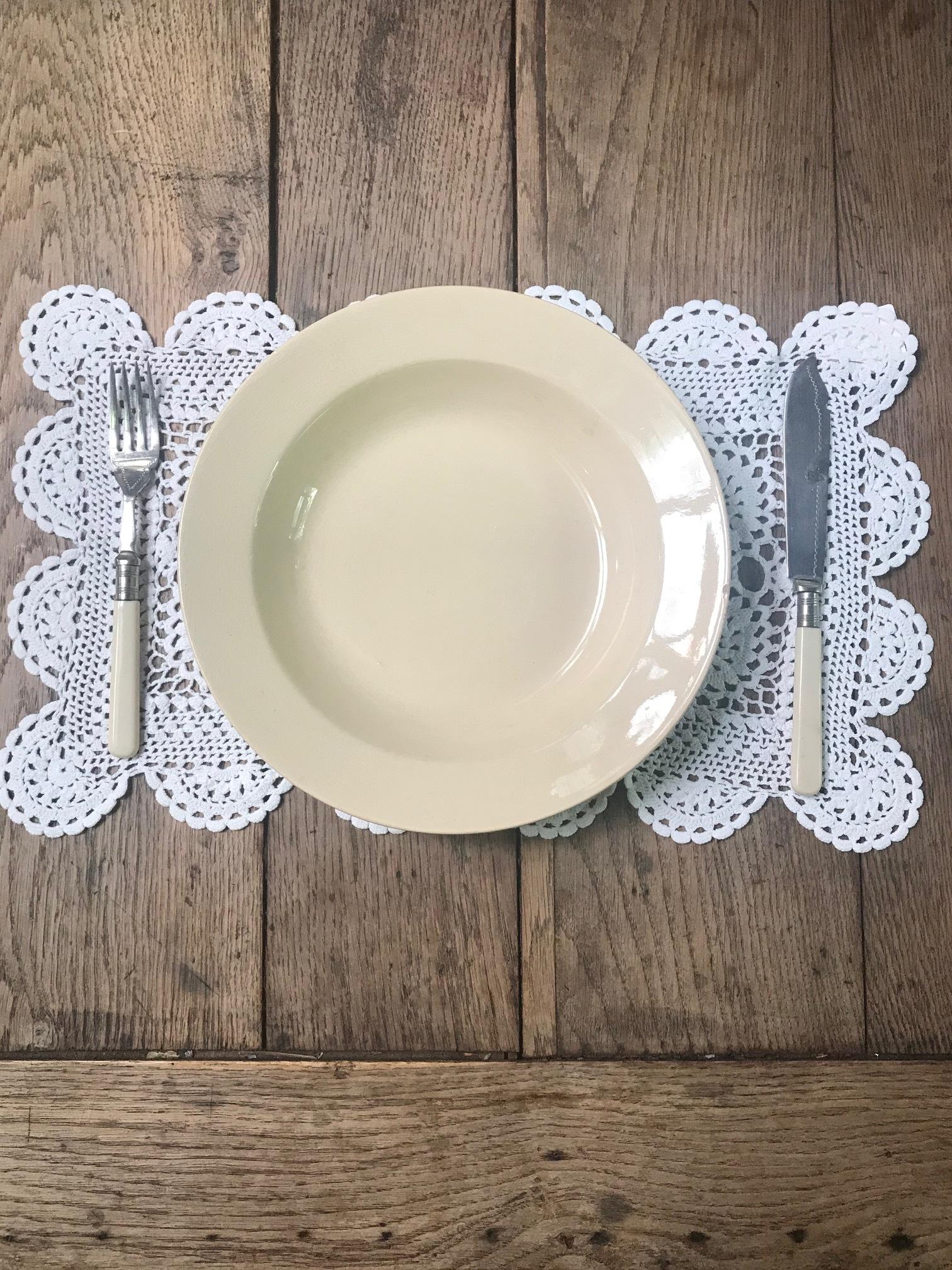 Boch Frères ベルギーアンティーク スープ皿 I