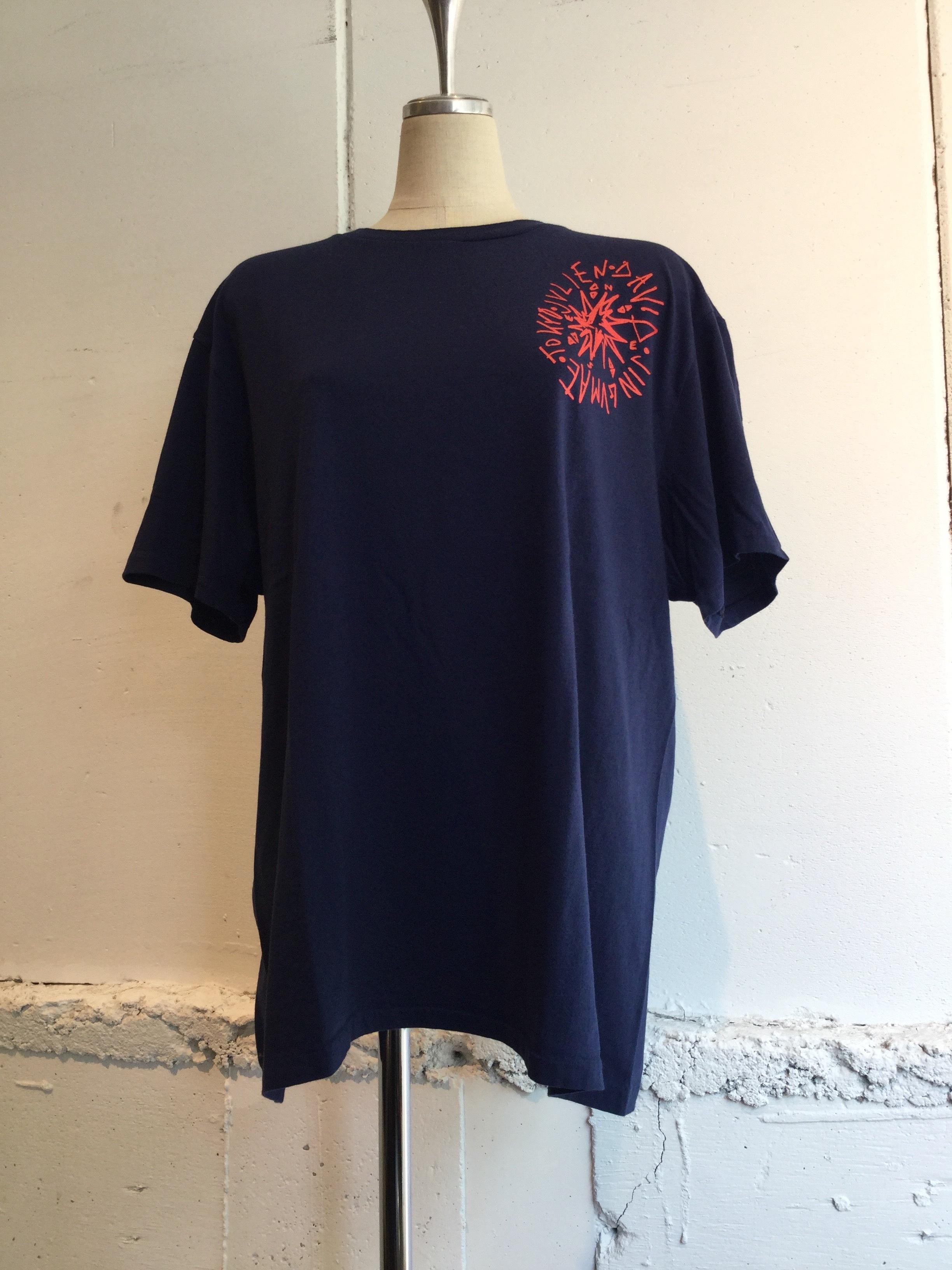 JULIEN DAVID Printed T-shirt COMPASS (BLUE)