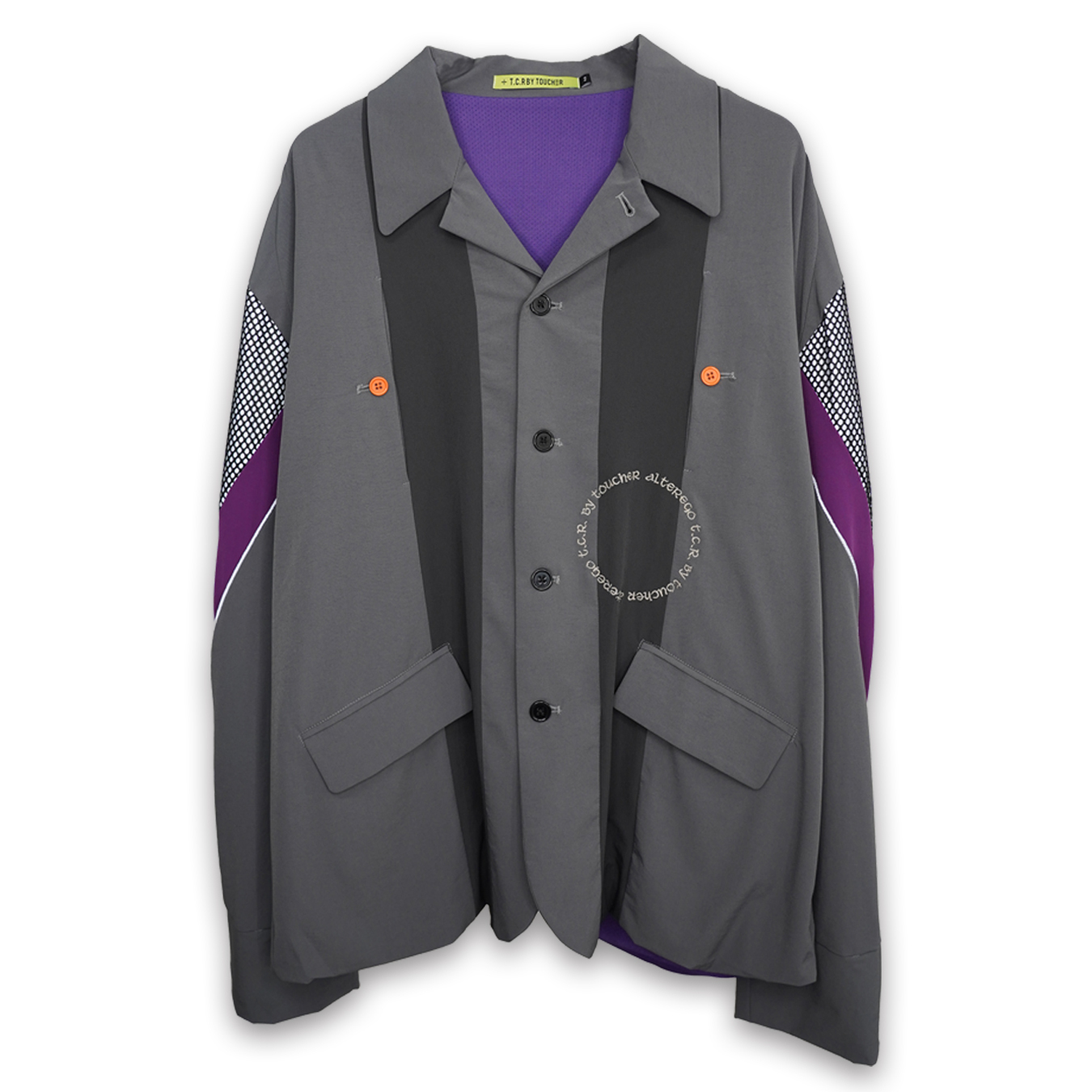 EQUIPMENT TAILORED JACKET - GRAY