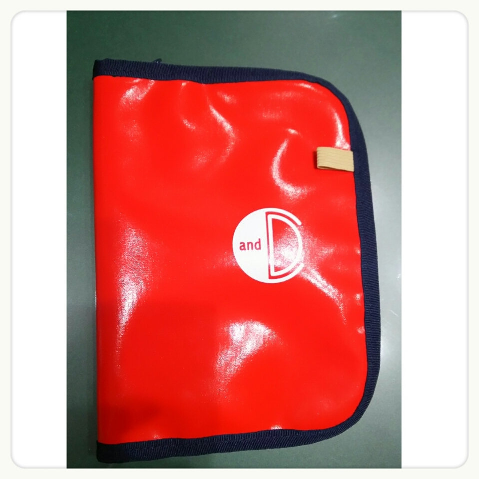 daily&carry BOOK&NOTE COVER RED✖NAVY