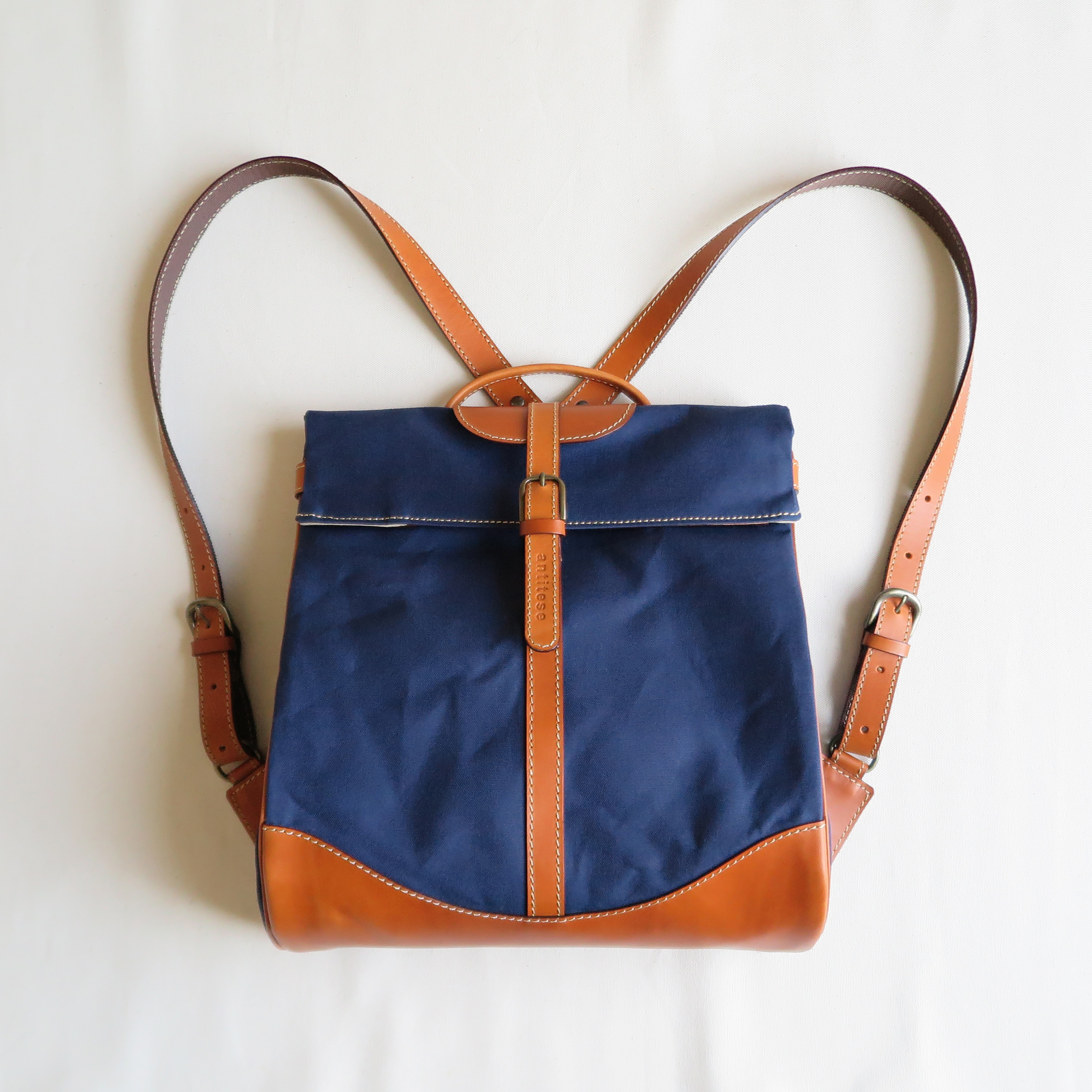 Paraffin canvas back pack「Escargot」regular  NAVY