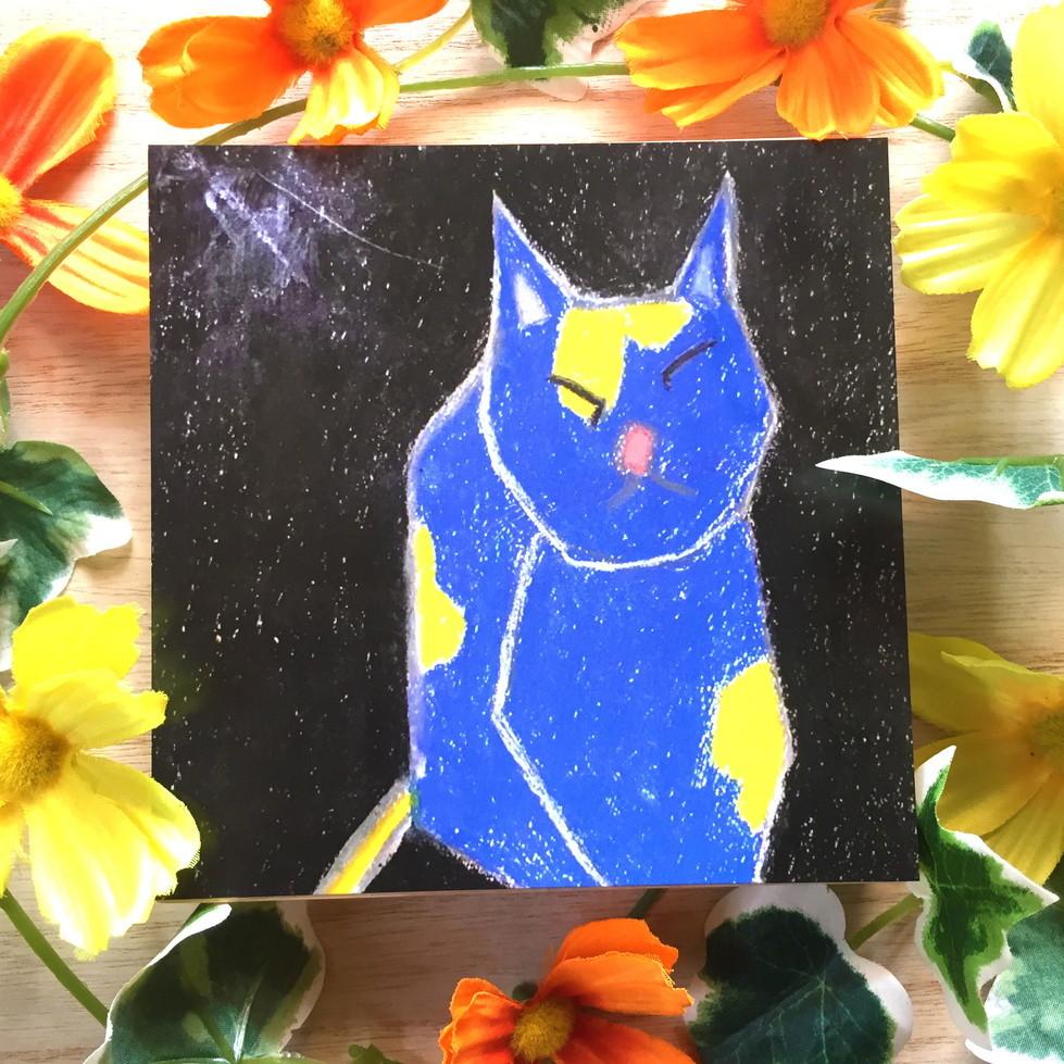 絵画 インテリア アートパネル 雑貨 壁掛け 置物 おしゃれ 現代アート 抽象画 猫 動物 ロココロ 画家 : Mitsuo Ito 作品 : a cat