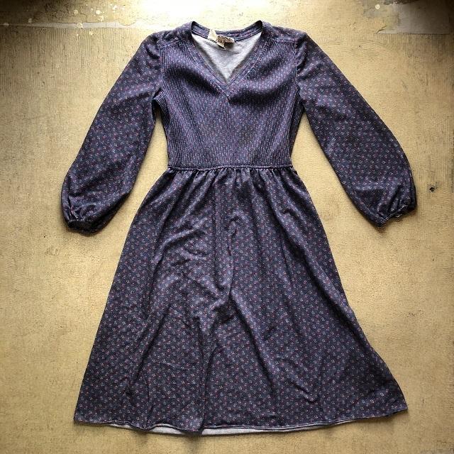 60's LESLIE FAY FLORAL DRESS #TP-213