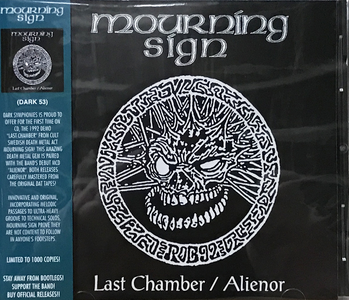 """MOURNING SIGN """"Last Chamber / Alienor Official CD"""""""
