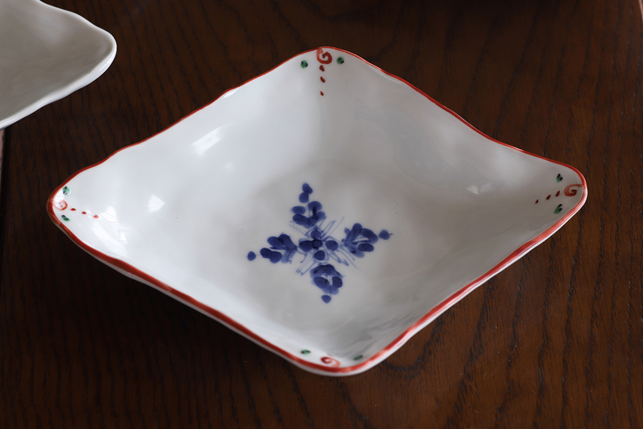 松尾貞一郎 ひし形取皿 191217-K12 貞土窯(有田焼)