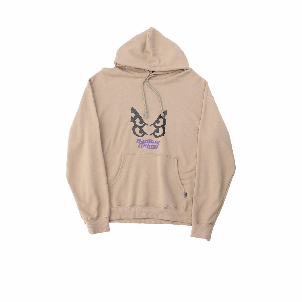 【10%OFF】MYne × BADBOY hoodie / BEIGE - 画像1
