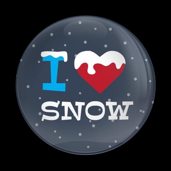 ゴーバッジ(ドーム)(CD1054 - Seasonal I LOVE SNOW) - 画像1