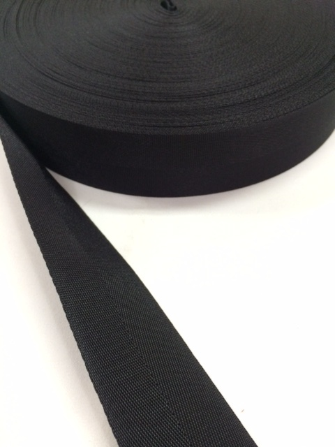 ナイロン 杉綾織(綾テープ) 38mm幅 黒  5mカット