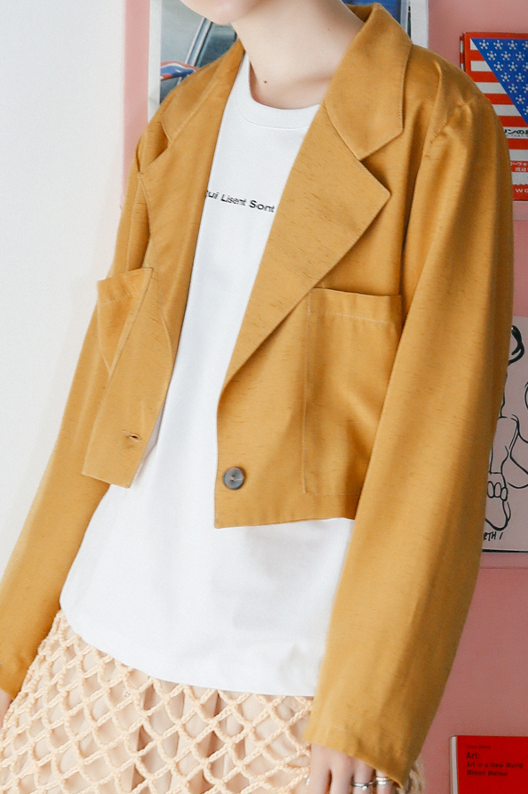 80's Short Yellow Jacket