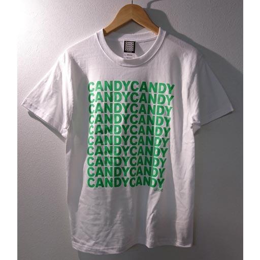 FIVE CANDY Tシャツ ホワイト×グリーン