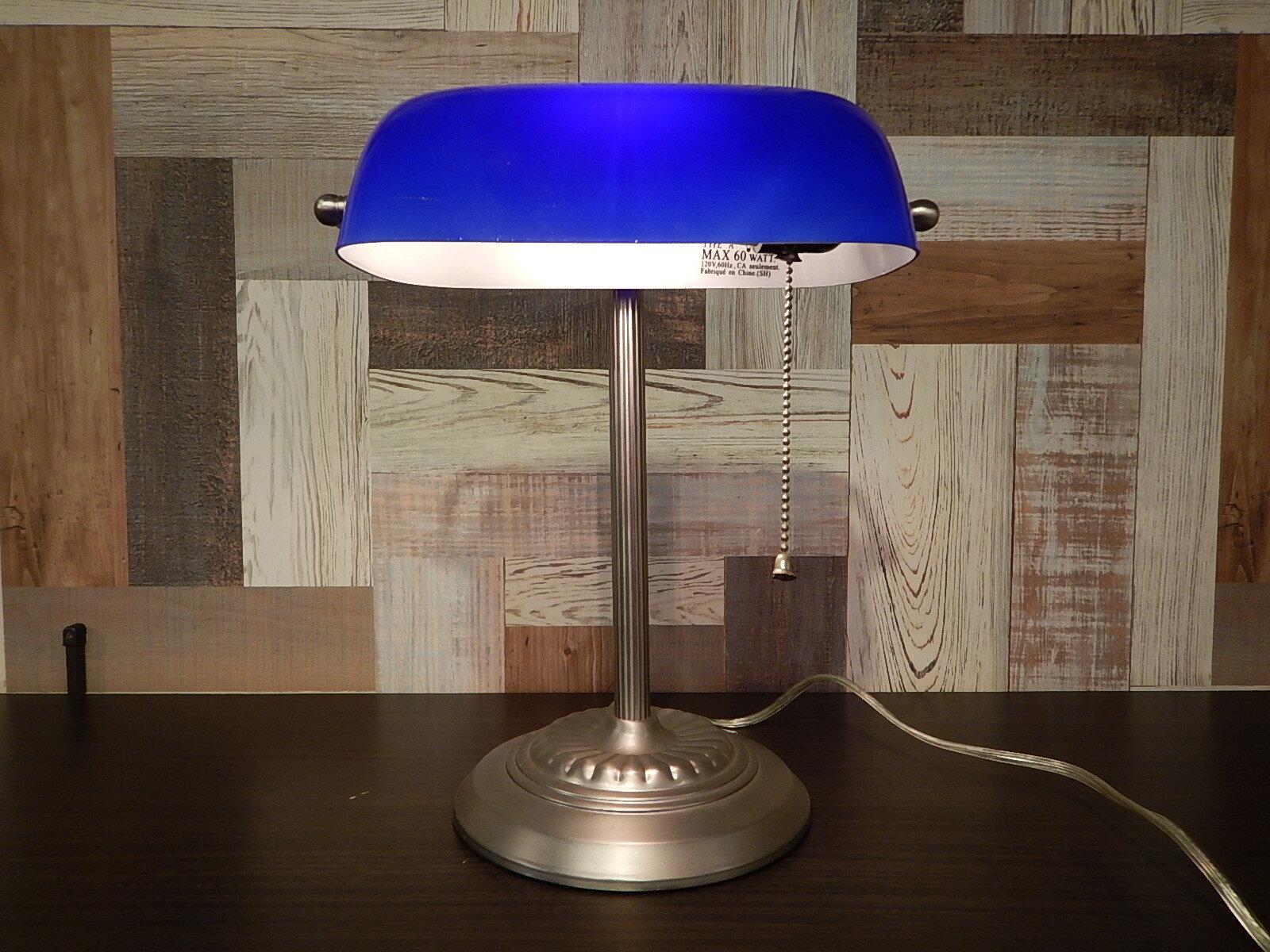 品番0036 デスクランプ 青 電気スタンド 電球 スタンド ヴィンテージ 011