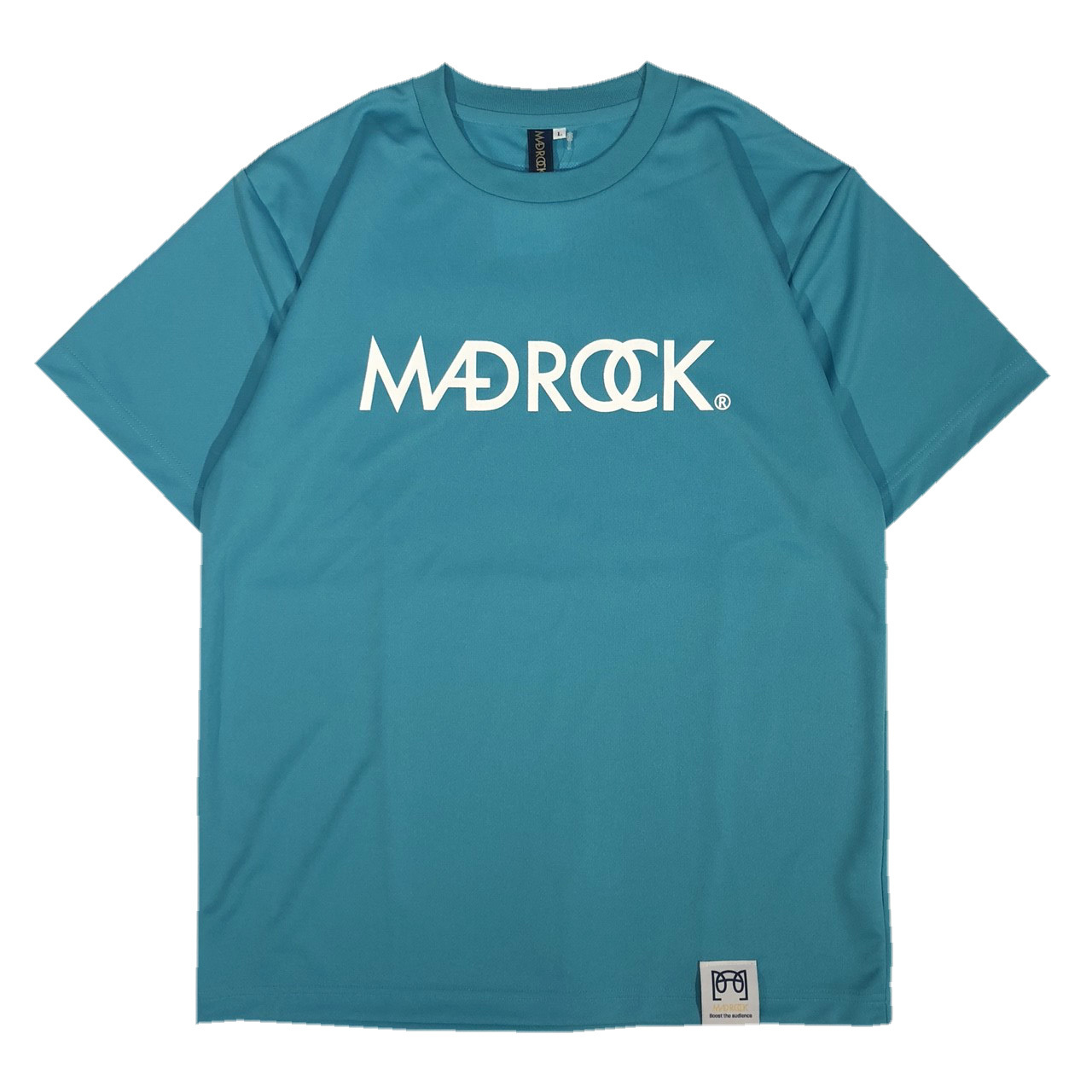 マッドロックロゴ Tシャツ/ドライタイプ/ミントブルー&ホワイト