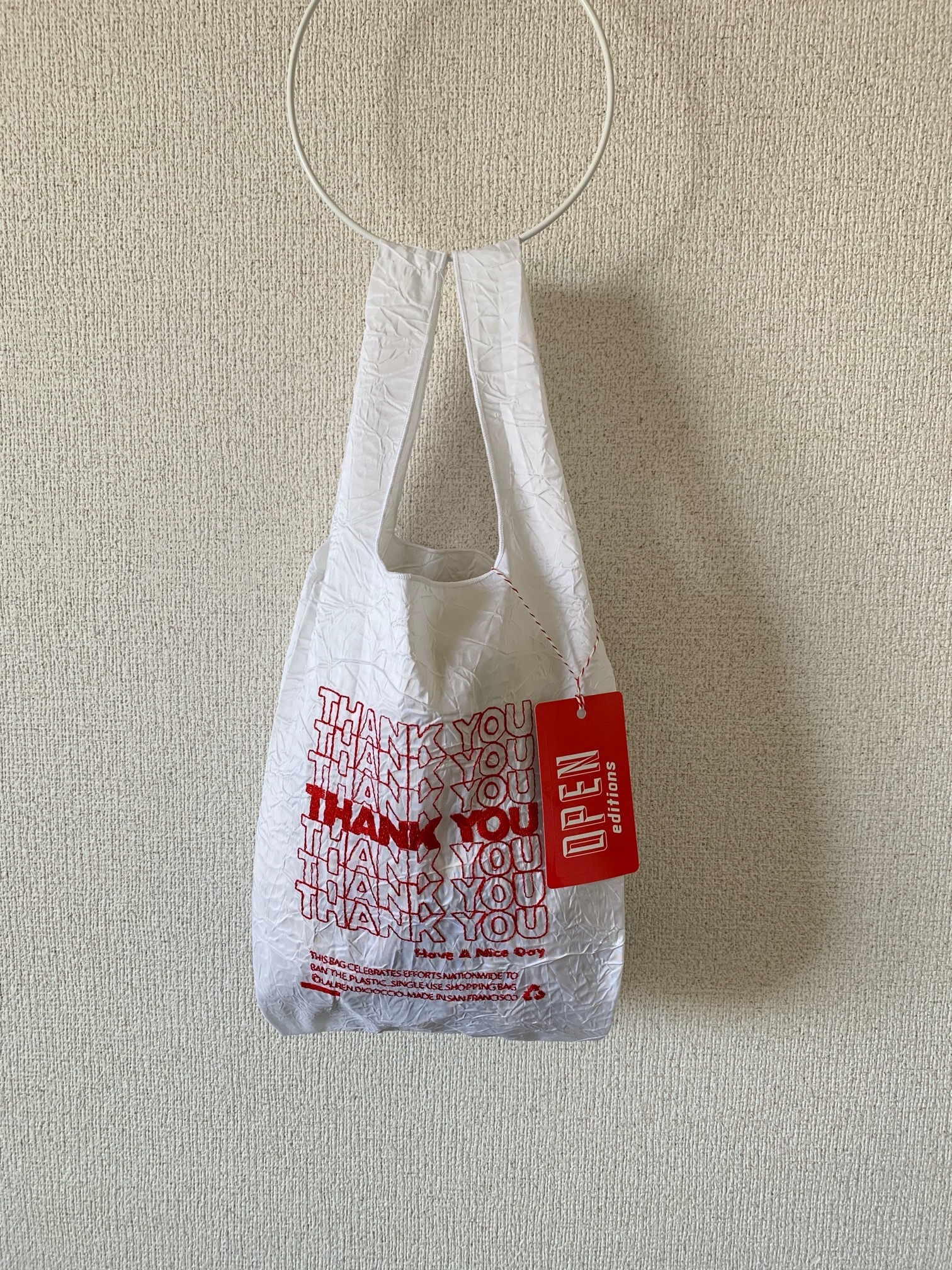 【OPEN EDITIONS】THANK YOU MINI エコバッグ/ THANK YOU Red