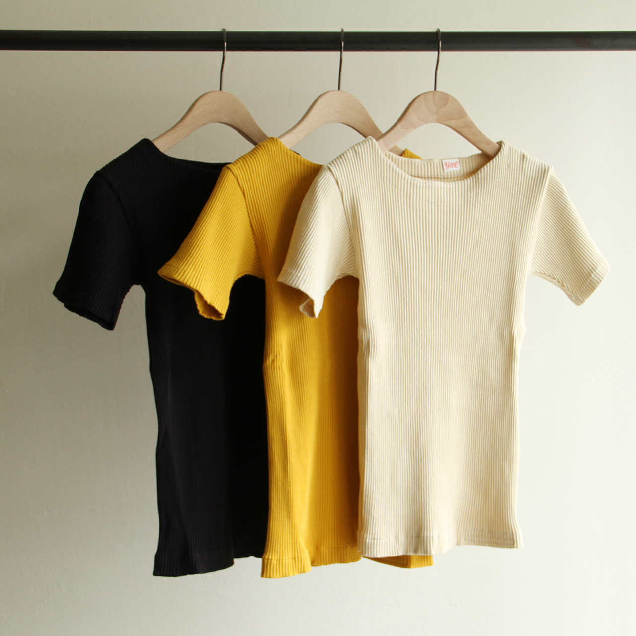 YOUNG&OLSEN 【 womens 】zinc rib boat neck ss