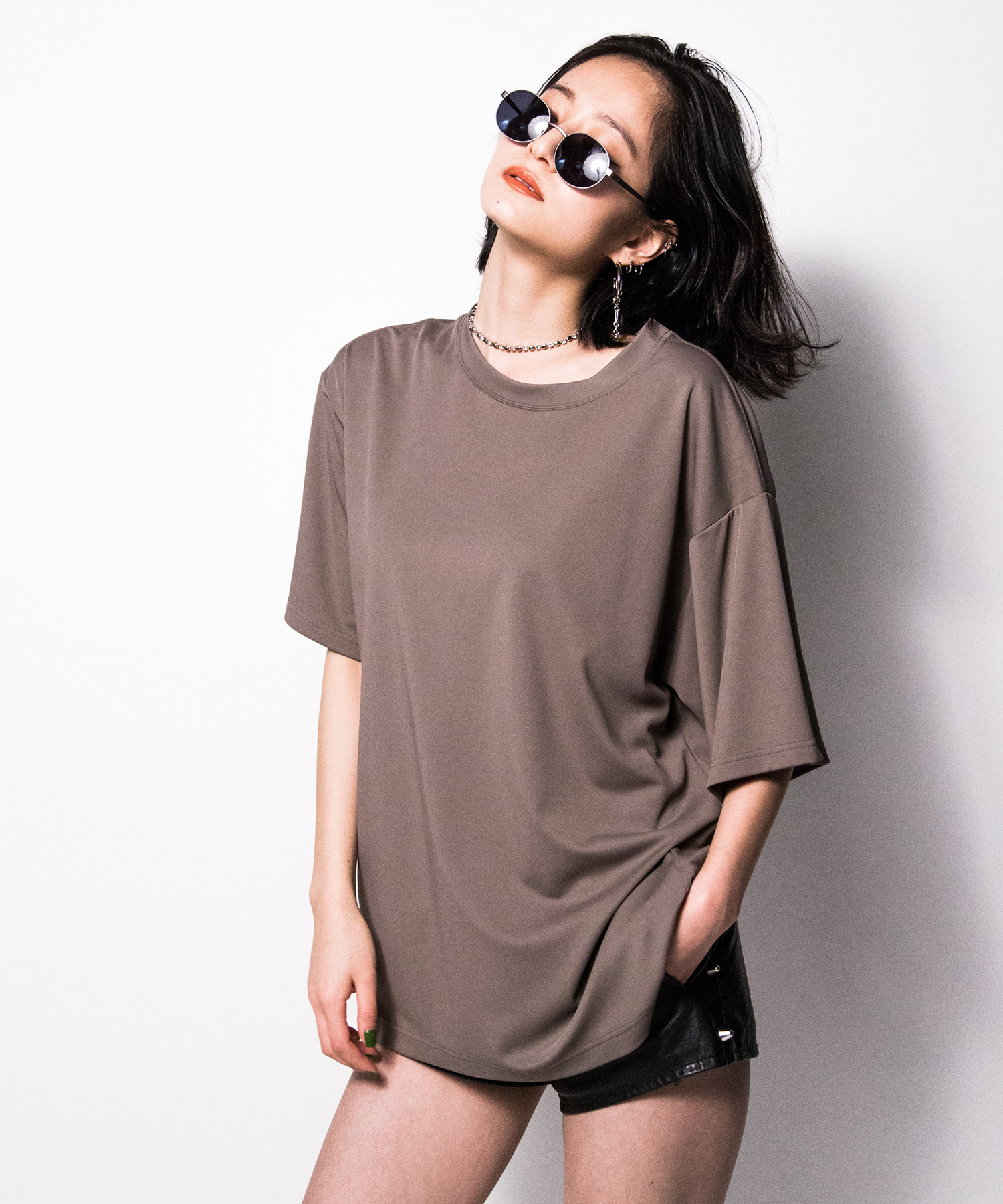 hs18SM-IR01 BASIC DROP SHOULDER TEE