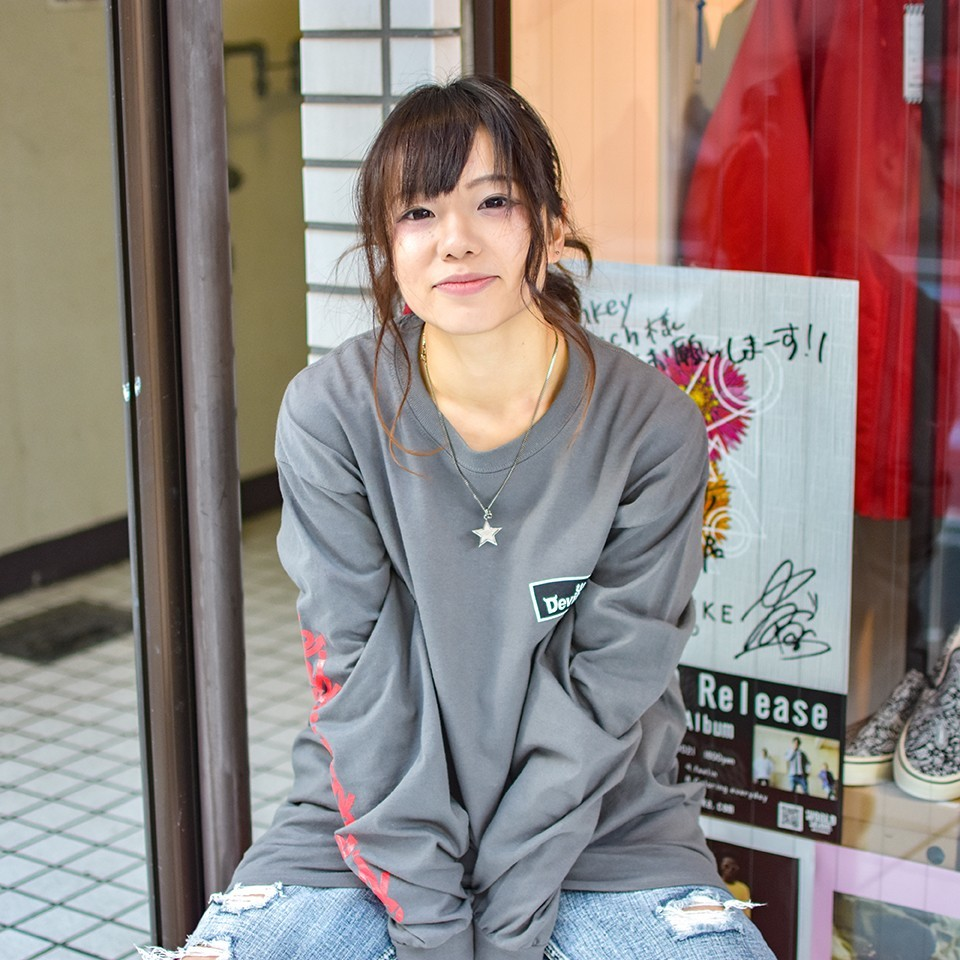 Deviluse(デビルユース)    ROUND LOGO L/S T-shirts(Charcoal Gray)