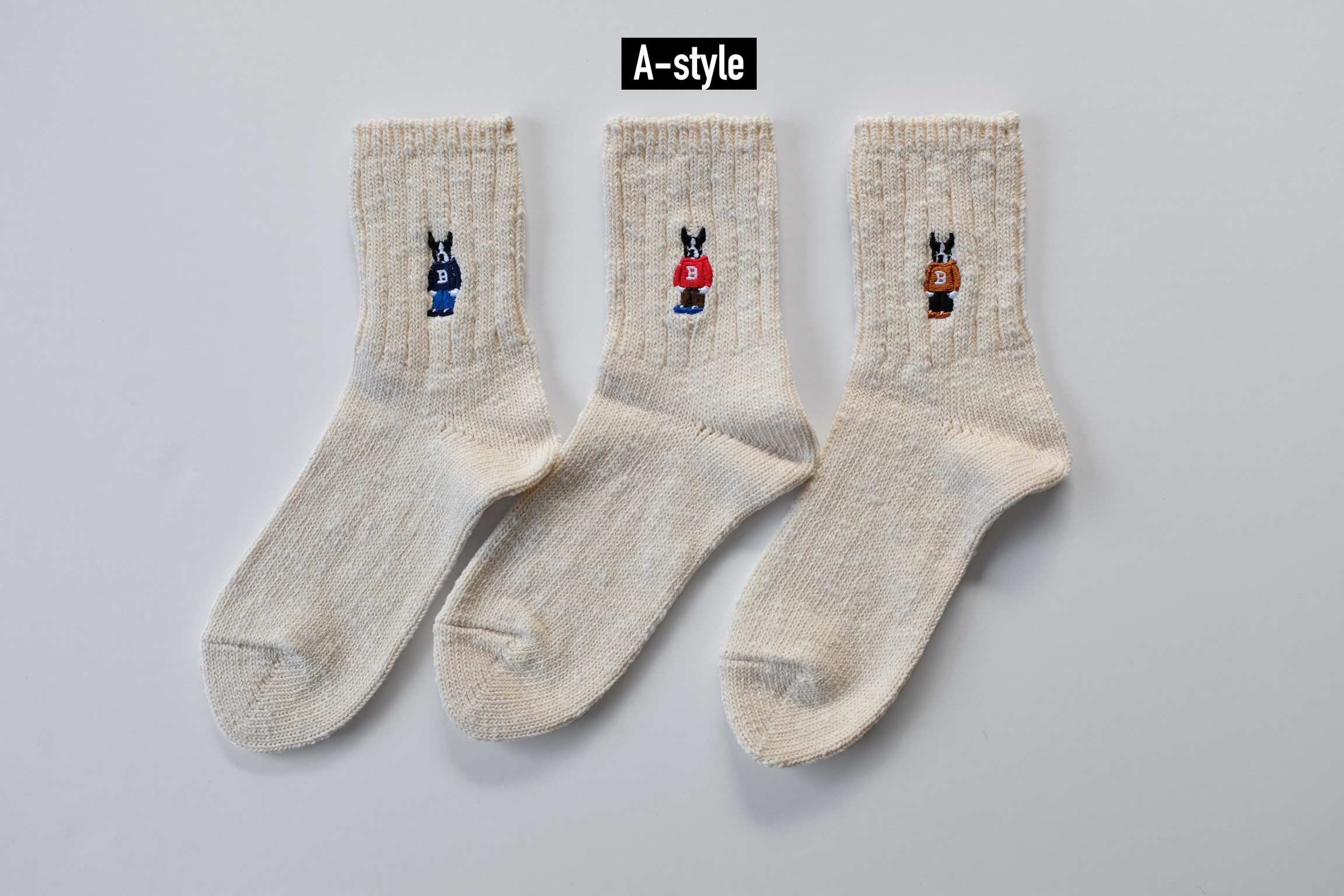 SBW Boston Socks[Ivory White]