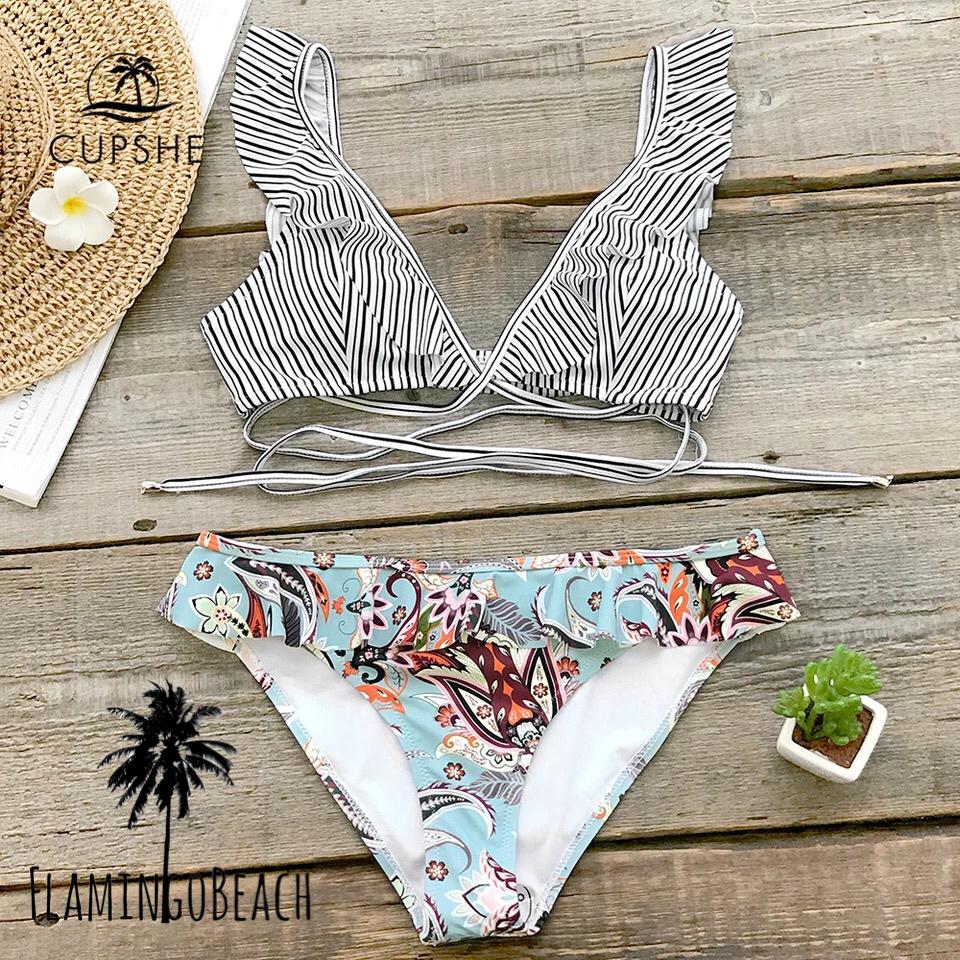 【FlamingoBeach】stripe pattern bikini ビキニ