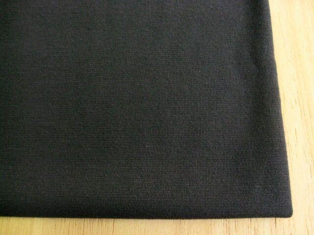 エステル・綿混ストレッチポンチニット ブラック NTM-2506