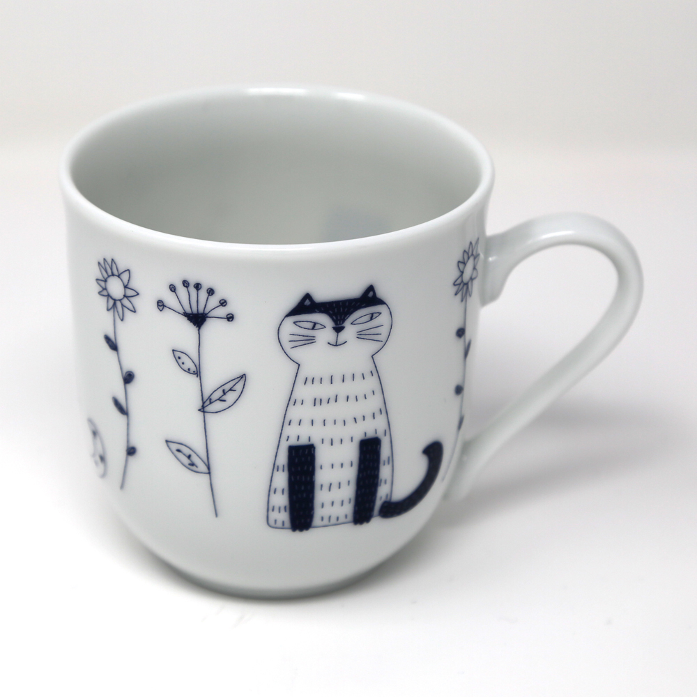 猫マグカップ(ウチ猫マグカップお座り猫)