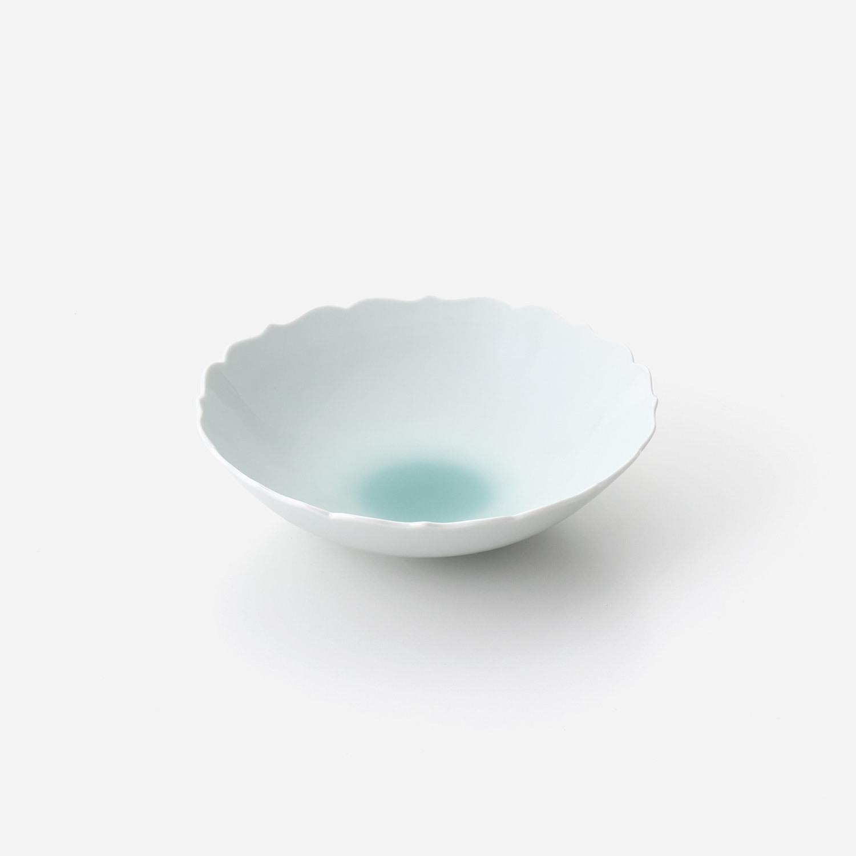 青磁たまり 輪花中鉢
