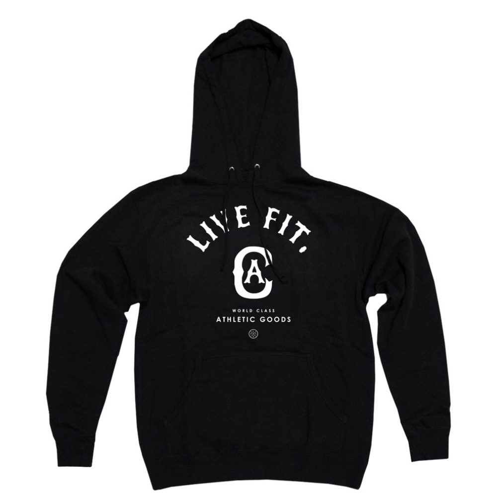 LIVE FIT World Class Hoodie - Black