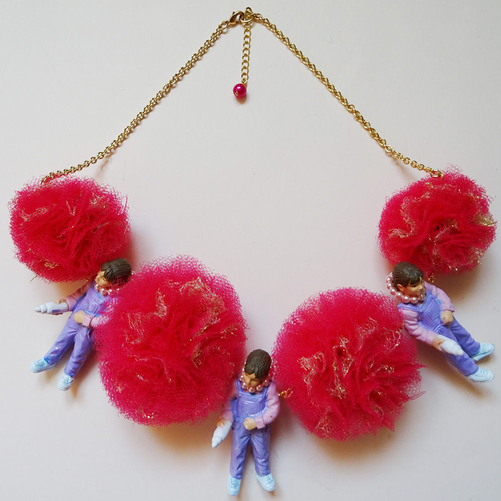 Sedmikrasky セドミックラスキー ギブミルクガールxポンポンネックレス / ピンク