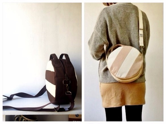 【受注製作】DOTLINE BAG | BROWN×ECRU