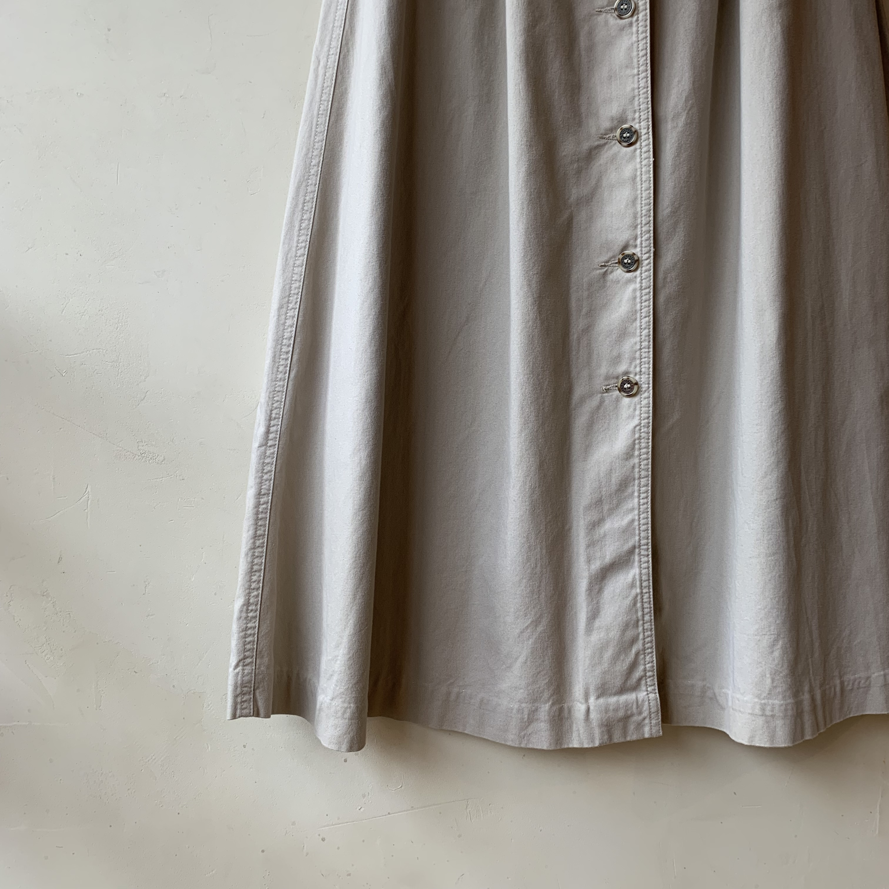 vintage center button skirt