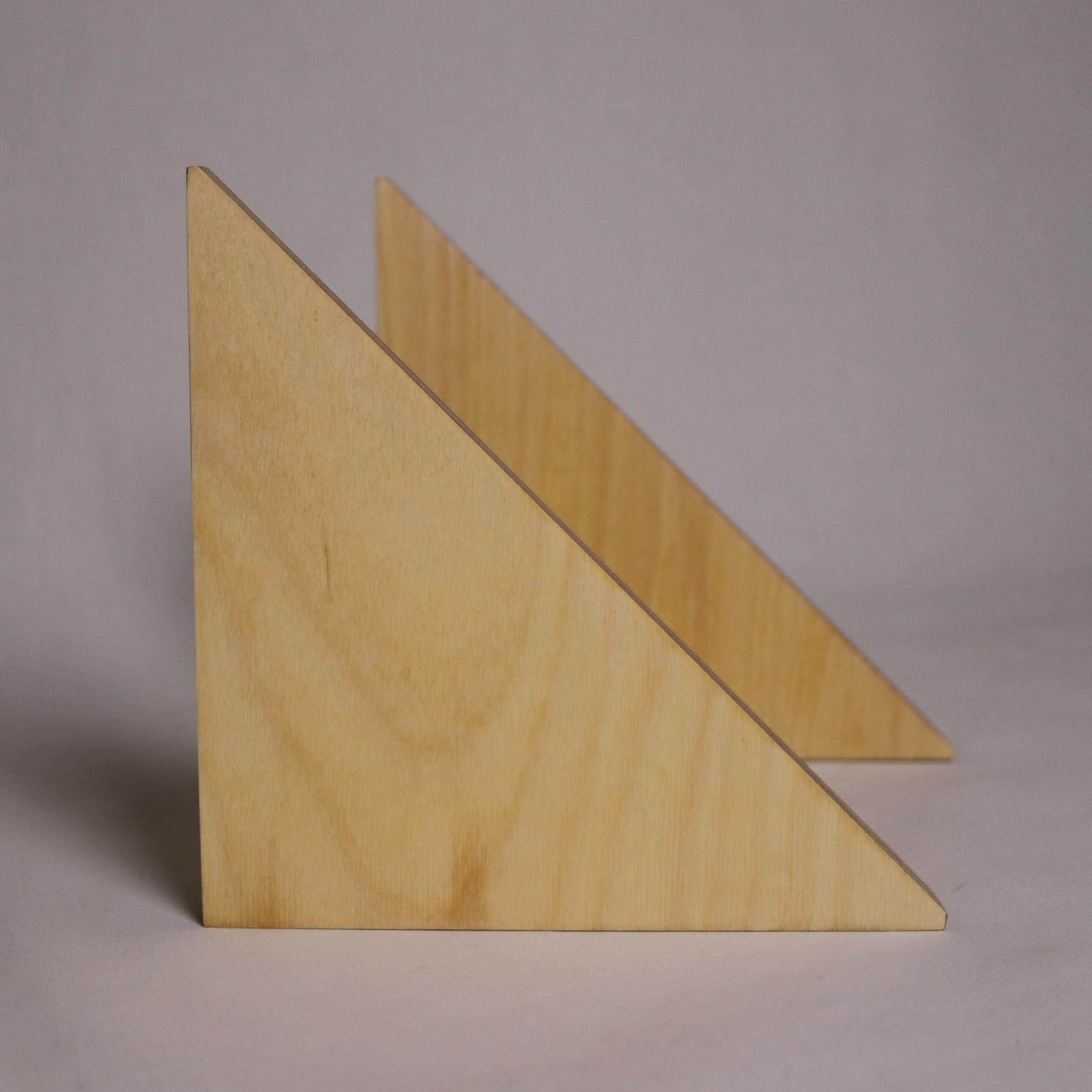 ブックエンドさんかく / 木製&スチール