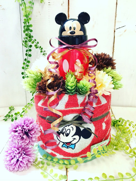 ミッキーマウス おむつケーキ  出産祝い ギフト オシャレ 個性的  かわいい  キャラクター
