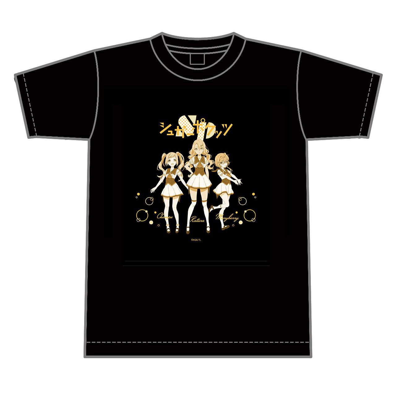 【4589839354530予】ラピスリライツ シュガーポケッツ Tシャツ 黒/Lサイズ