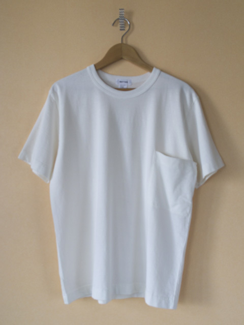 BETTER ベター  supima slub crew neck pocket T shirt