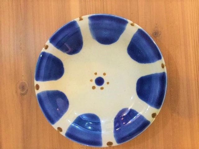 7寸皿コバルト チチチャン ノモ陶器