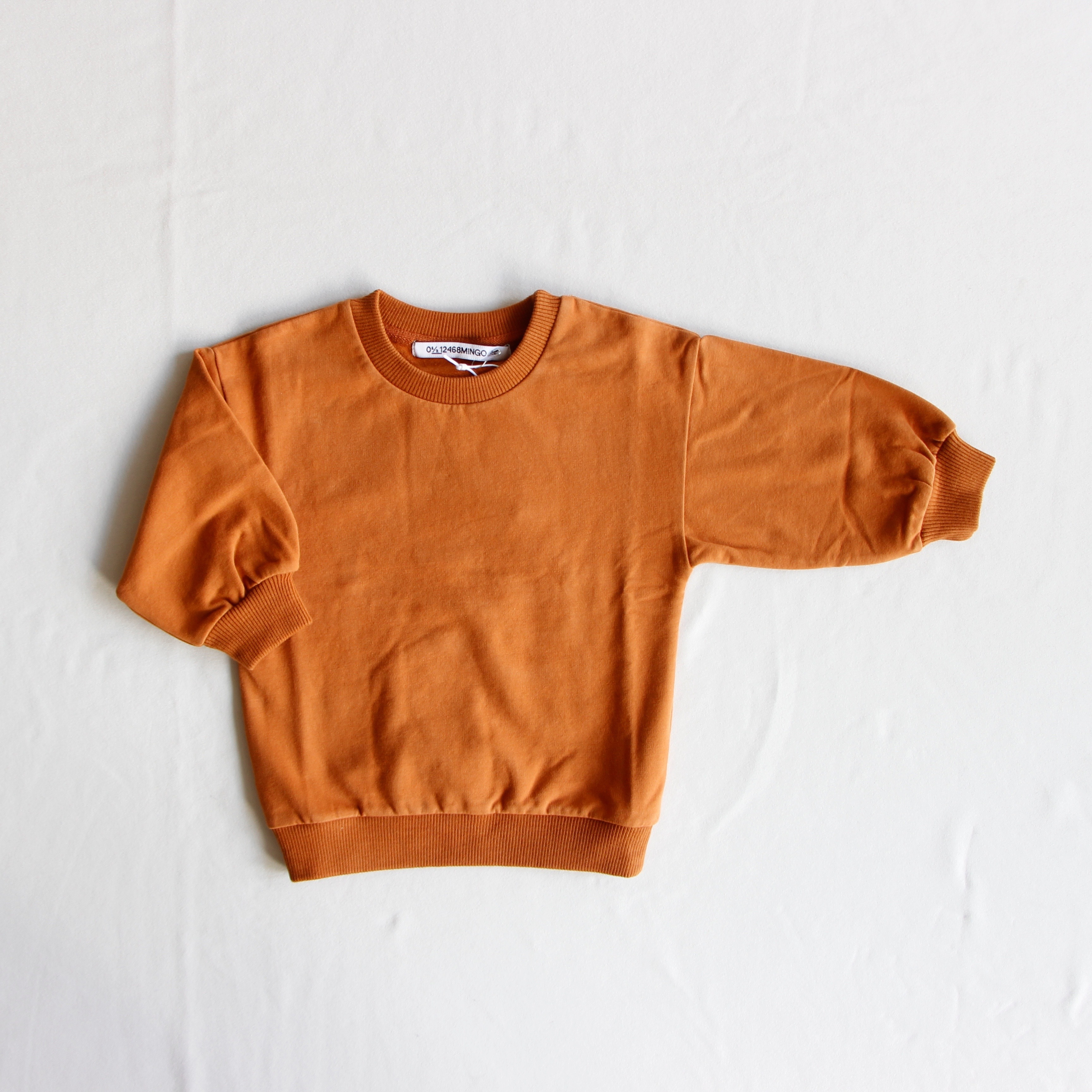 《MINGO.2019AW》Oversized sweater / Leather Brown
