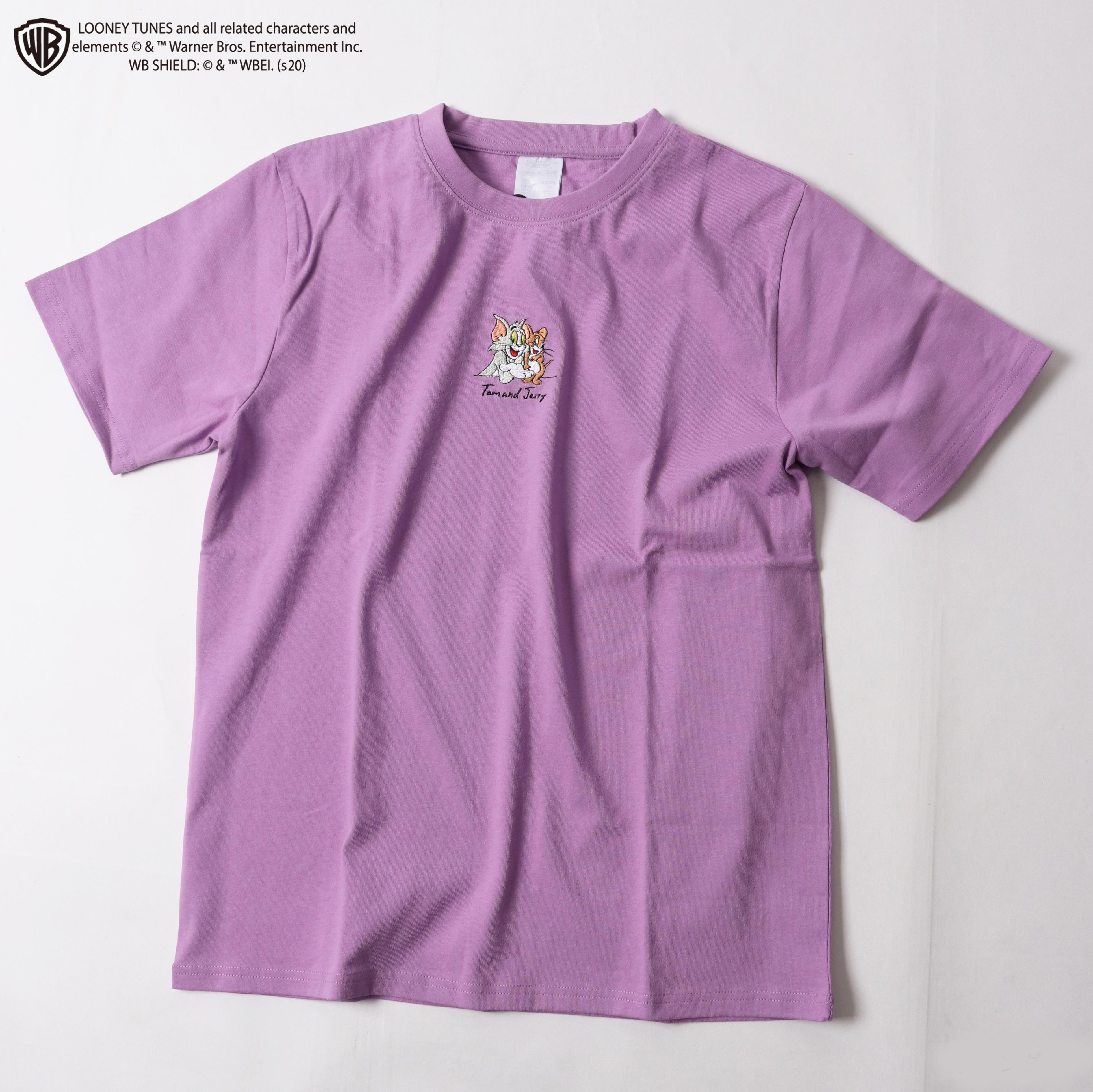 【トム&ジェリー】レギュラーシルエットワンポイント刺繍半袖Tシャツ NO0530122