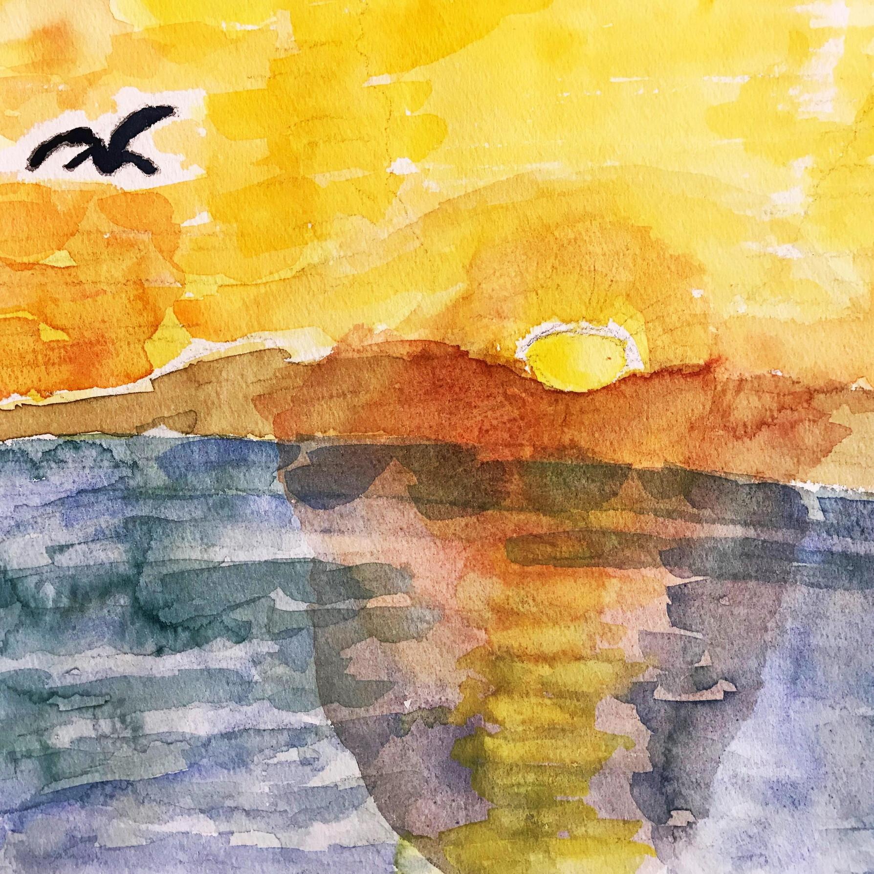 絵画 インテリア アートパネル 雑貨 壁掛け 置物 おしゃれ 風景画 アブストラクトアート 鳥 ロココロ 画家 : YUTA SASAKI 作品 : 鳥飛び立つ時