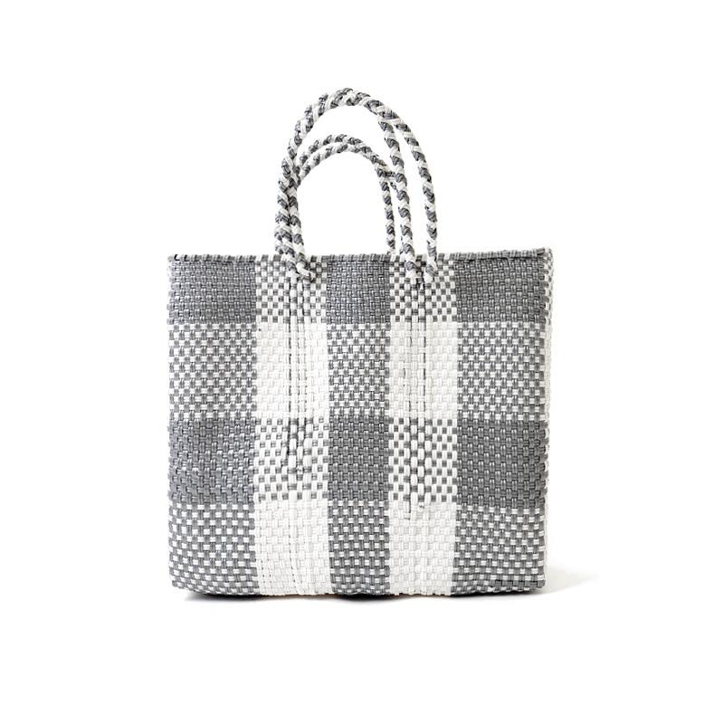 MERCADO BAG CHECK - Silver x White(S)